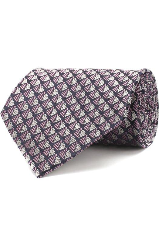 Купить Шелковый галстук с узором Ermenegildo Zegna, Z3E23/1XW, Италия, Розовый, Шелк: 100%;