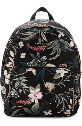Рюкзак Watson Lane Botanical Kate Spade New York черный | Фото №1