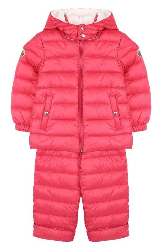 Купить Пуховый комплект из куртки и комбинезона Moncler Enfant, D1-951-70340-05-53048, Венгрия, Красный, Пух: 90%; Полиамид: 100%; Подкладка-хлопок: 100%; Перо: 10%;