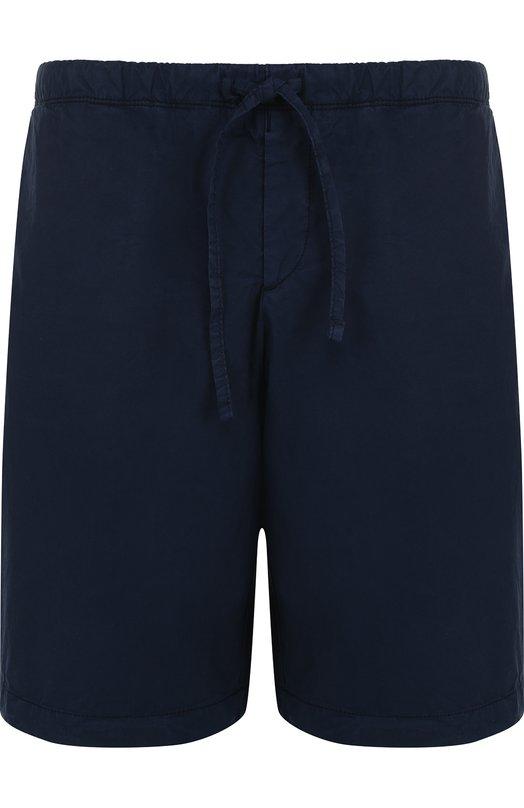 Купить Хлопковые шорты с поясом на резинке BOSS, 50383917, Румыния, Темно-синий, Хлопок: 97%; Эластан: 3%;