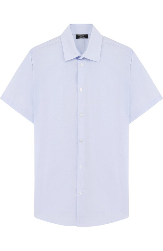 Купить Хлопковая рубашка прямого кроя с короткими рукавами Dal Lago, N403/8418/XS-L, Италия, Голубой, Хлопок: 100%;
