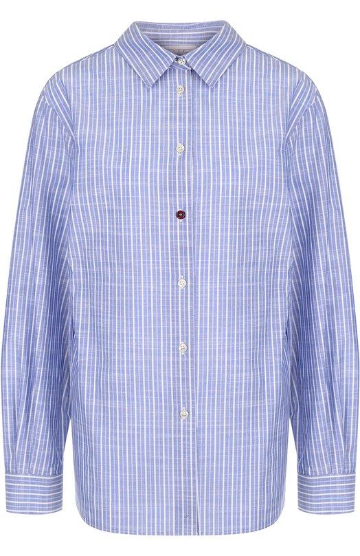 Купить Блуза свободного кроя в полоску Stella Jean, J C 022 00 T 9488, Тунис, Голубой, Хлопок: 100%;