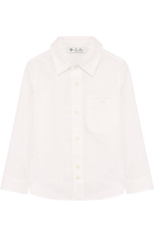 Льняная рубашки прямого кроя Loro Piana