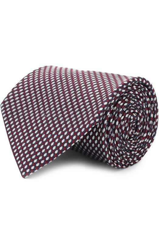 Купить Шелковый галстук с узором Brioni, 063H00/P7422, Италия, Бордовый, Шелк: 100%;