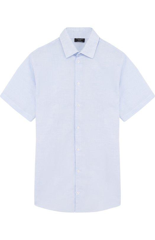 Купить N403/8407/XS-L, Рубашка из смеси хлопка и льна Dal Lago, Италия, Голубой, Лен: 55%; Хлопок: 45%;, Мужской, Рубашки