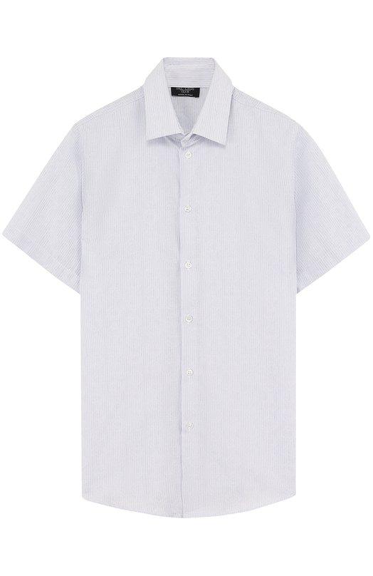 Купить Хлопковая рубашка прямого кроя с короткими рукавами Dal Lago, N403B/8419/XS-L, Италия, Голубой, Хлопок: 100%;