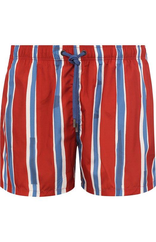 Купить Плавки-шорты с принтом Ermenegildo Zegna, N7B640090, Италия, Красный, Подкладка-хлопок: 91%; Подкладка-полиамид: 9%; Полиэстер: 100%;