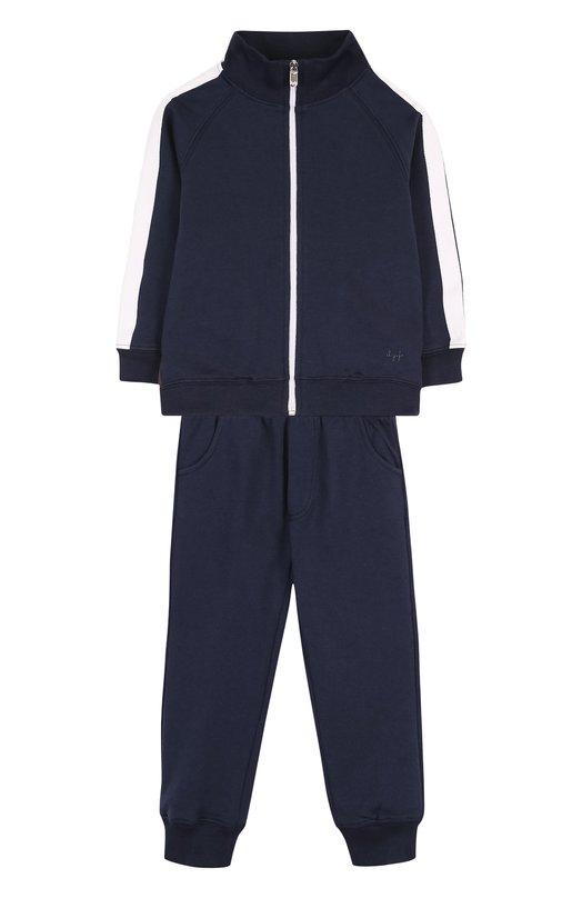 Купить Хлопковый костюм из брюк и кардигана Il Gufo, P18DP253M0030/2A, Болгария, Темно-синий, Хлопок: 100%;