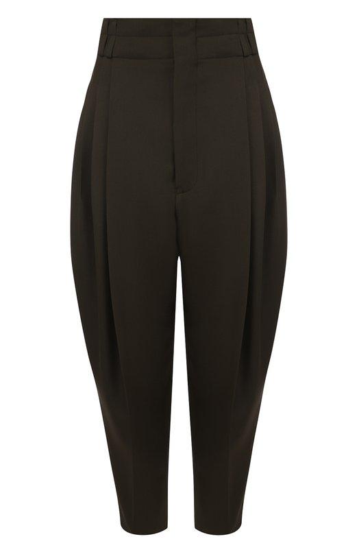 Купить Шерстяные укороченные брюки с заниженной линией шага Haider Ackermann, 183-3410-186, Румыния, Хаки, Шерсть: 100%;