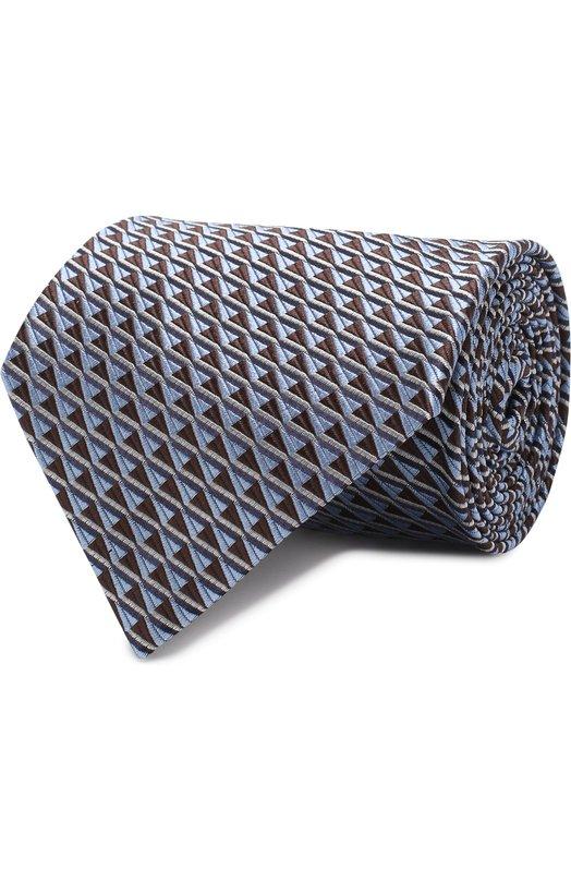 Купить Шелковый галстук с узором Ermenegildo Zegna, Z3E42/1XW, Италия, Голубой, Шелк: 100%;