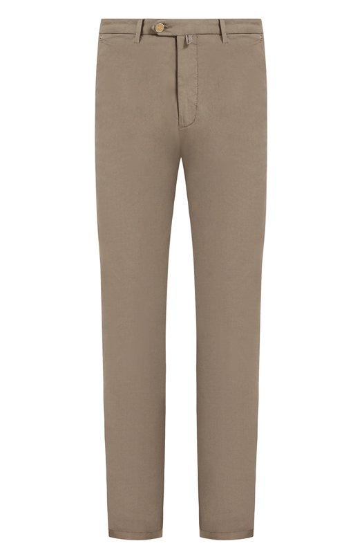 Купить Хлопковые брюки прямого кроя Kiton, UFPP791J06P77, Италия, Бежевый, Хлопок: 98%; Эластан: 2%;