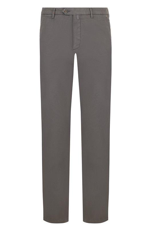 Купить Хлопковые брюки прямого кроя Kiton, UFPP791J06P77, Италия, Оливковый, Хлопок: 98%; Эластан: 2%;