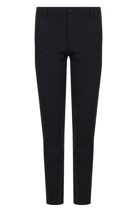 Купить Хлопковые брюки прямого кроя Burberry, 4061873, Тунис, Темно-синий, Хлопок: 100%;