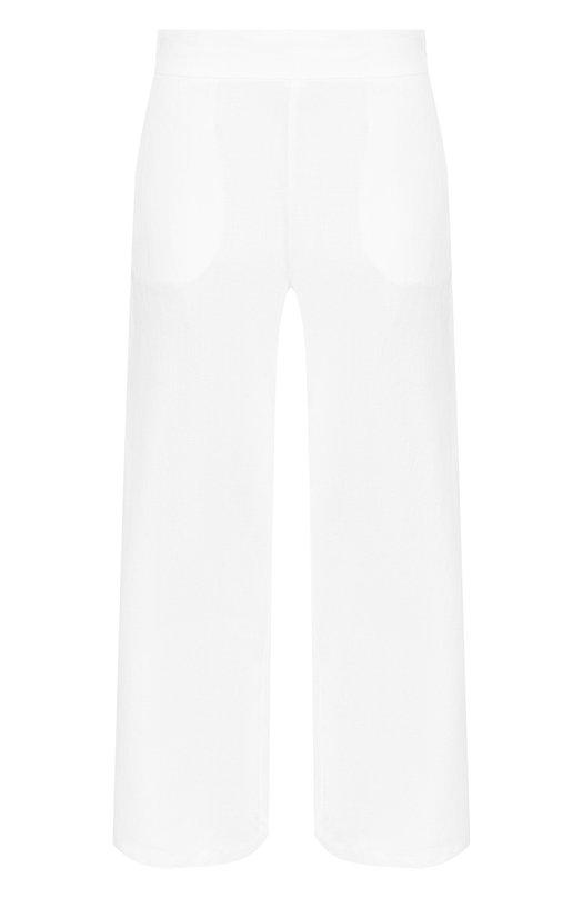 Купить Однотонные льняные брюки с карманами 120% Lino, N1W2329/0253/000, Болгария, Белый, Лен: 100%;