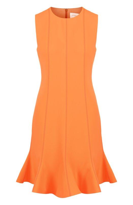 Купить Приталенное мини-платье без рукавов Victoria, Victoria Beckham, DRVV544B SS18 FLUID CREPE, Португалия, Оранжевый, Подкладка-шелк: 100%; Полиэстер: 100%;