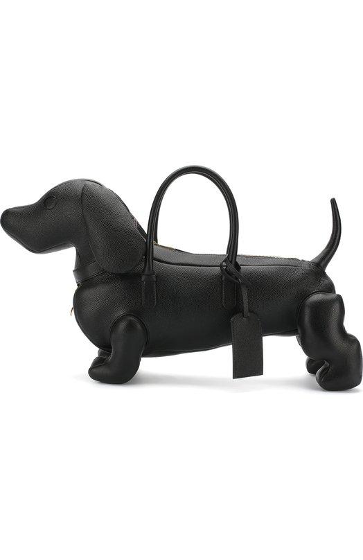 Купить Кожаная сумка-тоут Hector Thom Browne, MAG050A-00198 001, Италия, Черный, Кожа натуральная: 100%;