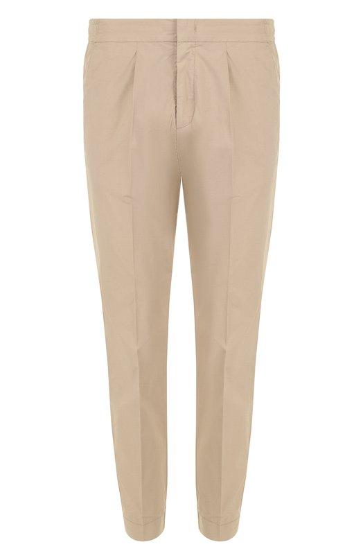 Купить Хлопковые брюки с поясом и манжетами на резинке Z Zegna, VP103/ZZ336, Румыния, Бежевый, Хлопок: 98%; Эластан: 2%;