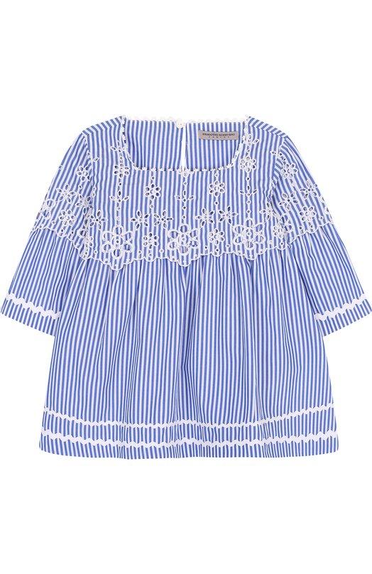 Хлопковая блуза с кружевной отделкой Ermanno Scervino