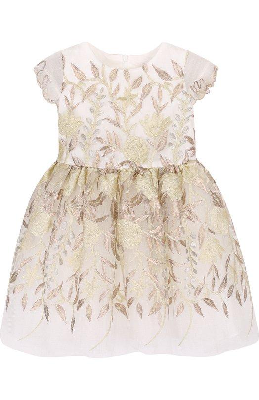 Купить Мини-платье с декоративной вышивкой и бантом David Charles, 429, Великобритания, Белый, Хлопок: 50%; Полиэстер: 50%; Подкладка-хлопок: 100%;