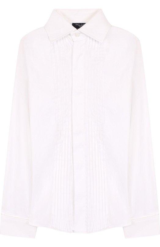 Купить Хлопковая рубашка прямого кроя Dal Lago, N427/7537/7-12, Италия, Белый, Хлопок: 78%; Эластан: 4%; Полиамид: 18%;