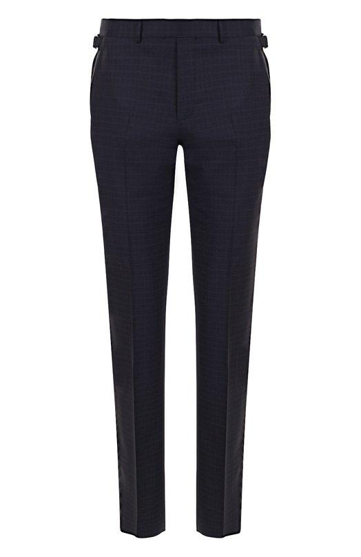 Купить Шерстяные брюки прямого кроя Ermenegildo Zegna, 314F03/75F812, Швейцария, Темно-синий, Шерсть: 100%; Подкладка-вискоза: 100%;