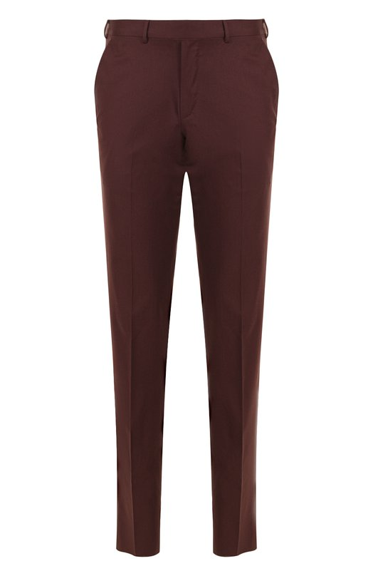 Купить Хлопковые брюки прямого кроя Ermenegildo Zegna, 366F20/77FP12, Швейцария, Коричневый, Хлопок: 100%;