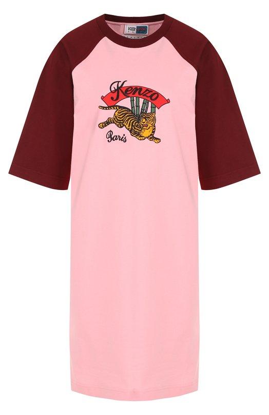 Хлопковое мини-платье свободного кроя Kenzo