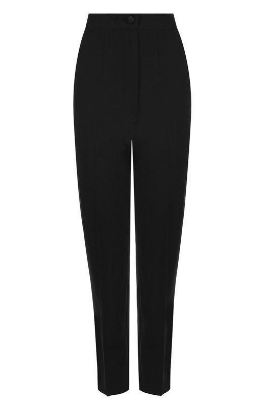 Укороченные шерстяные брюки со стрелками  Dolce & Gabbana