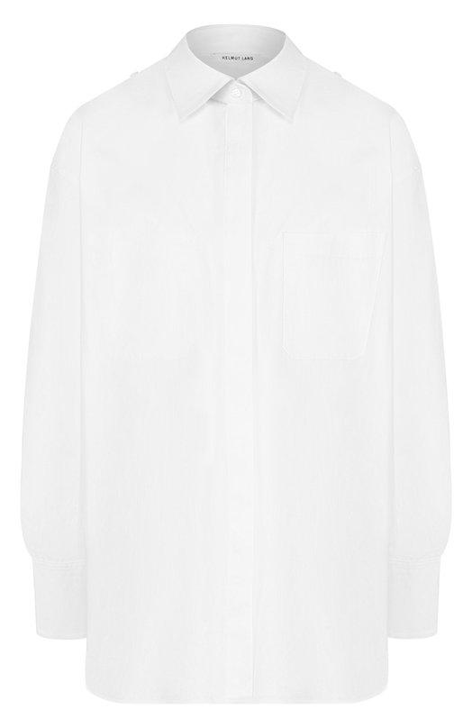 Купить Однотонная хлопковая блуза свободного кроя Helmut Lang, I02HW514, Китай, Белый, Хлопок: 100%;