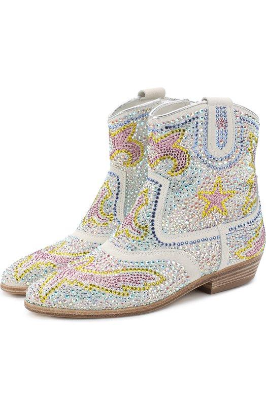 Кожаные ботинки со стразами Missouri