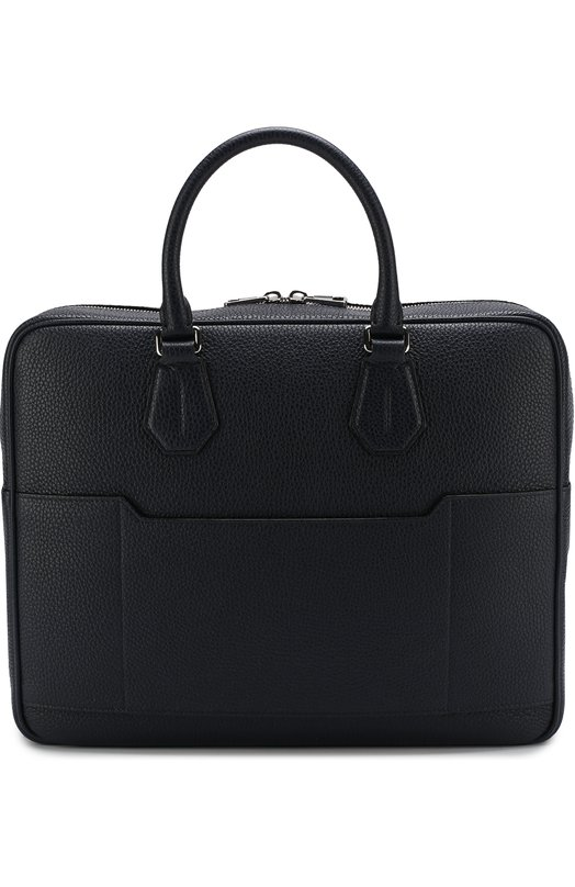 Купить Кожаная сумка для ноутбука с плечевым ремнем Bally, C0NDRIA/77/CALF, Италия, Темно-синий, Кожа натуральная: 100%;