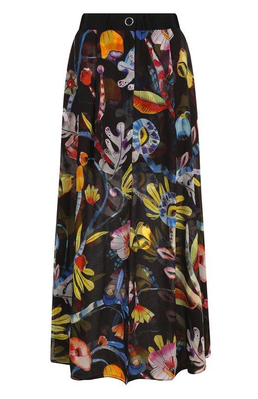 Купить Шелковая юбка-макси с цветочным принтом Giorgio Armani, WAN11T/WA703, Италия, Разноцветный, Шелк: 100%; Подкладка-шелк: 100%;
