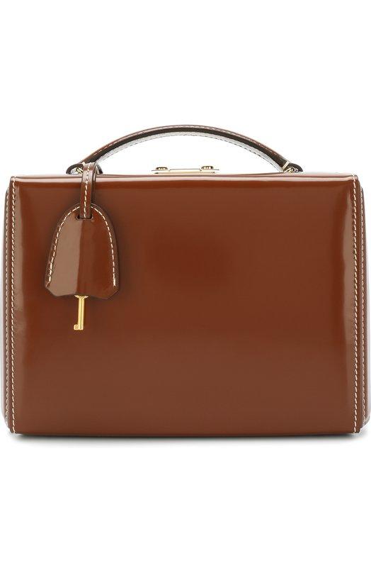 Купить Сумка Grace Small Box Mark Cross, W108152G, Италия, Светло-коричневый, Кожа натуральная: 100%; Кожа: 100%;