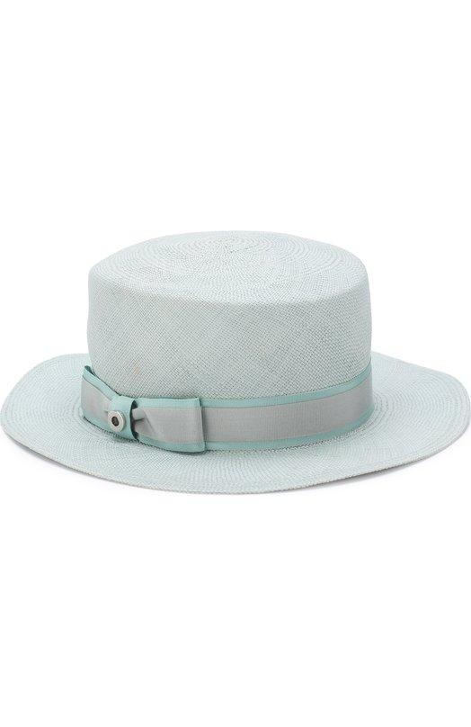 Купить Соломенная шляпа Venezia Loro Piana, FAI1536, Италия, Голубой, Отделка-вискоза: 60%; Отделка-хлопок: 40%; Солома: 100%; Отделка-текстиль: 100%;