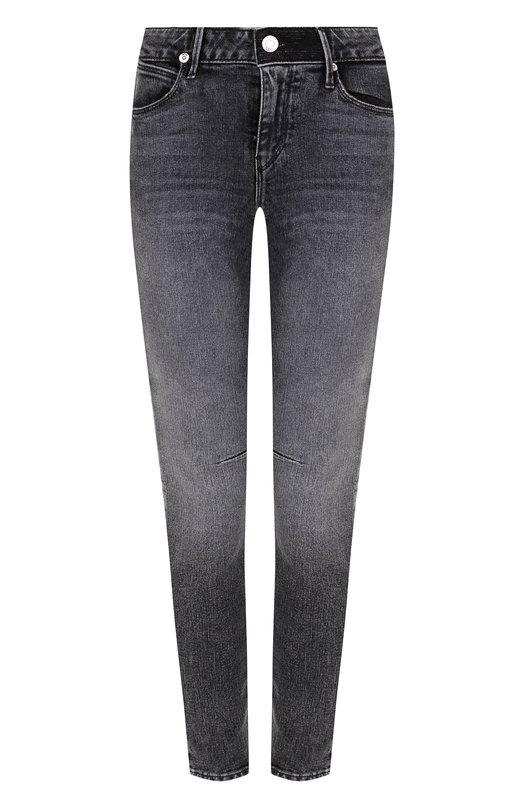 Купить Укороченные джинсы-скинни с потертостями RTA, WS8171-131SLTBK, США, Темно-серый, Хлопок: 98%; Эластан: 2%;