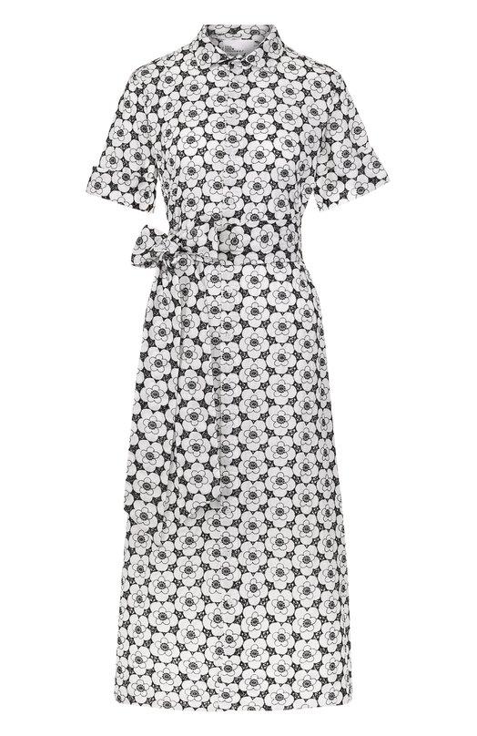 Хлопковое платье-рубашка с поясом Lisa Marie Fernandez