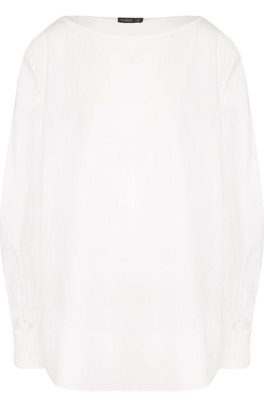 Купить Однотонная блуза свободного кроя Van Laack, MINDY_160920_SS18, Германия, Белый, Хлопок: 100%;