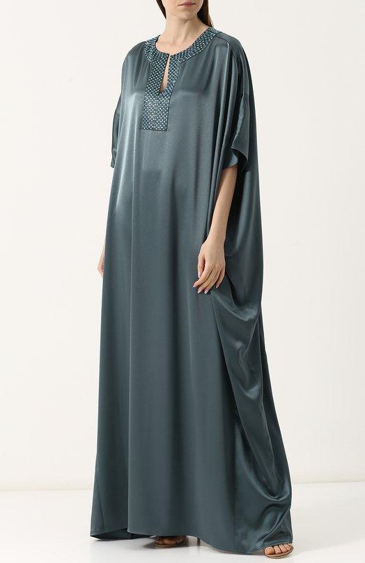Платье свободного кроя макси фото