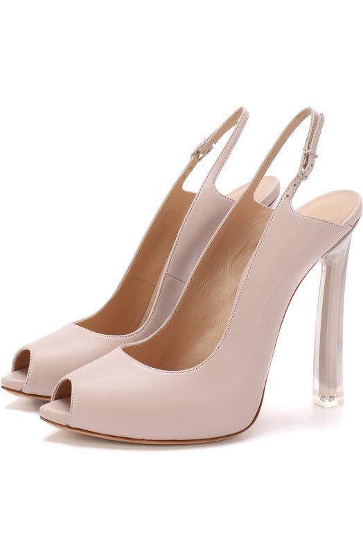 Кожаные туфли на шпильке Blade Casadei Casadei