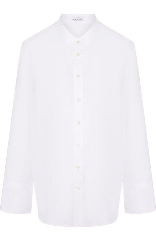 Купить Однотонная шелковая блуза свободного кроя Van Laack, BETTY_160049_SS18, Германия, Белый, Шелк :100%;