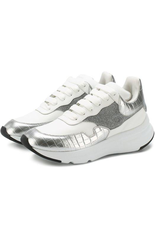 Кожаные кроссовки на массивной подошве Alexander McQueen Alexander McQueen