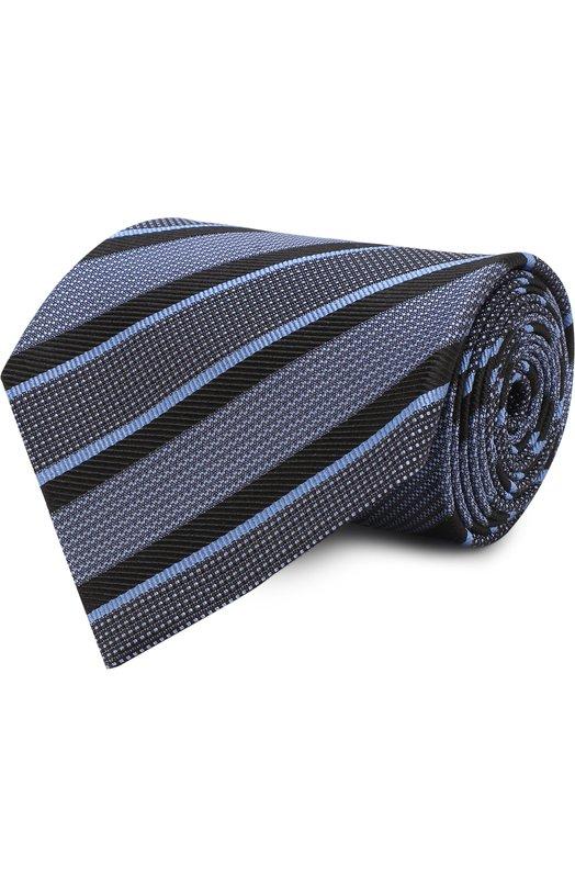 Купить Шелковый галстук Tom Ford, 3TF58/XTF, Италия, Голубой, Шелк: 100%;