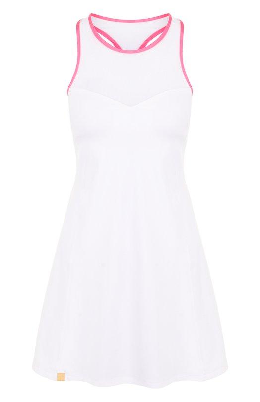 Купить Приталенное мини-платье с круглым вырезом Monreal London, 1117401.146, Литва, Белый, Полиамид: 71%; Отделка-полиамид: 66%; Отделка-эластан: 34%; Эластан: 29%;