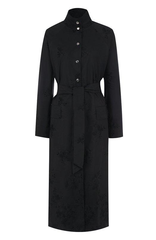 Однотонное шелковое пальто с поясом Kiton Kiton