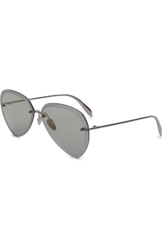 Купить Солнцезащитные очки Alexander McQueen, AM0120SA 003, Италия, Темно-серый