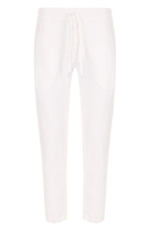 Купить Льняные укороченные брюки прямого кроя 120% Lino, N0M2131/D943/001, Болгария, Белый, Лен: 100%;