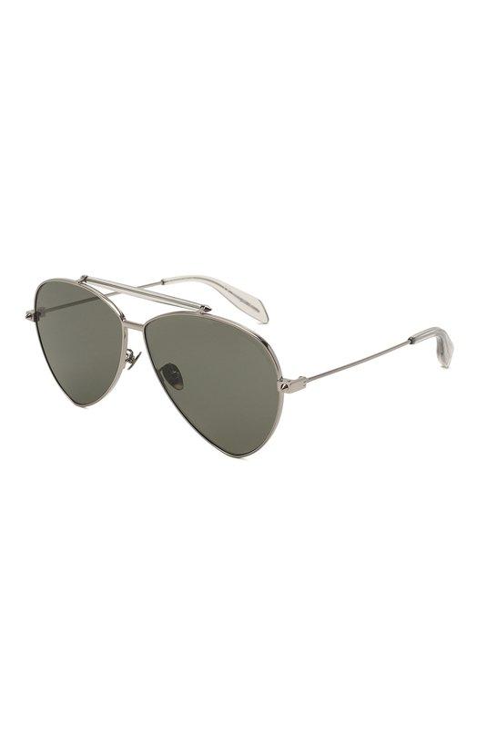 Купить Солнцезащитные очки Alexander McQueen, AM0058 002, Италия, Серебряный