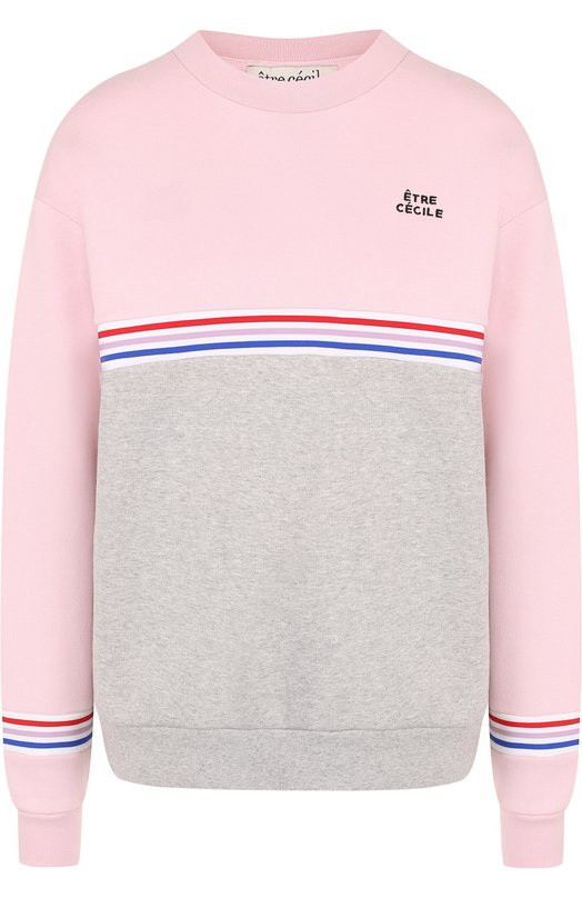 Купить Хлопковый свитшот с круглым вырезом и логотипом бренда Etre Cecile, EC-C0LBL0CK-BFS-RIB 330G C0TT0N FLEECE, Португалия, Разноцветный, Хлопок: 100%;