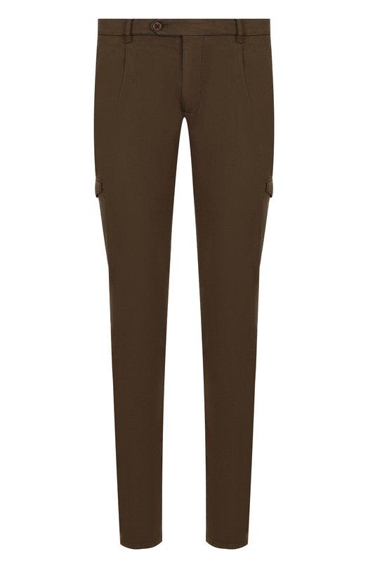 Купить Хлопковые брюки-карго Berwich, SC MILAN0 CARG0/FG0400X, Италия, Коричневый, Хлопок: 98%; Эластан: 2%;