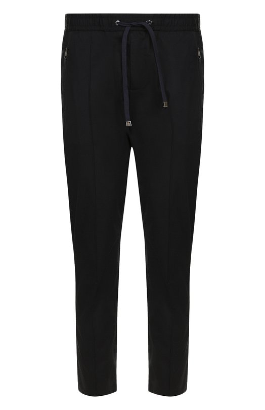Купить Хлопковые укороченные брюки с поясом на резинке Dolce & Gabbana, GY9VET/FUFIS, Италия, Синий, Хлопок: 97%; Эластан: 3%;